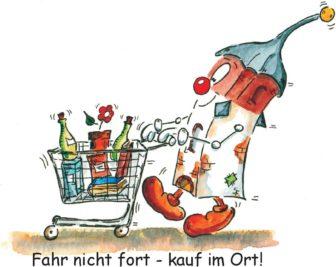 Einkauf-Halli: Fahr nicht fort - kauf im Ort!